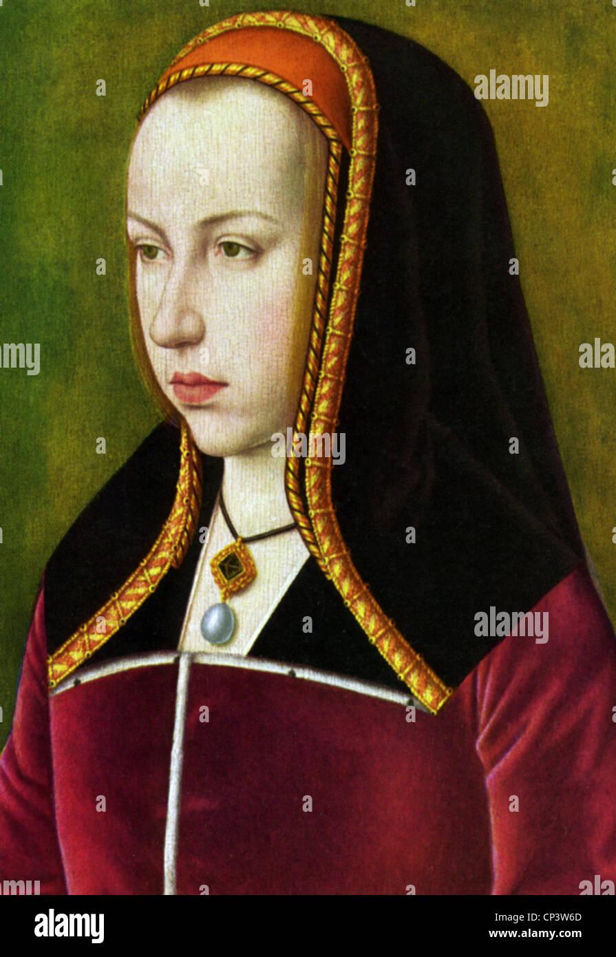 Margaret, 10.1.1480 - 1.12.1530, la archiduquesa de Austria, Gobernador de los Países Bajos Españoles Imagen De Stock