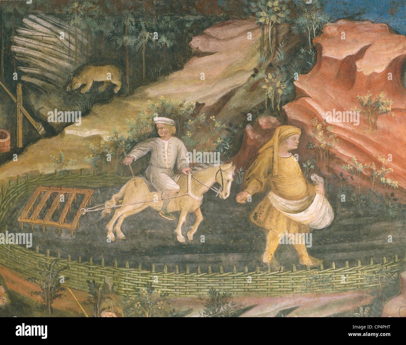 Fresco Buonconsiglio Trento Imagen De Stock