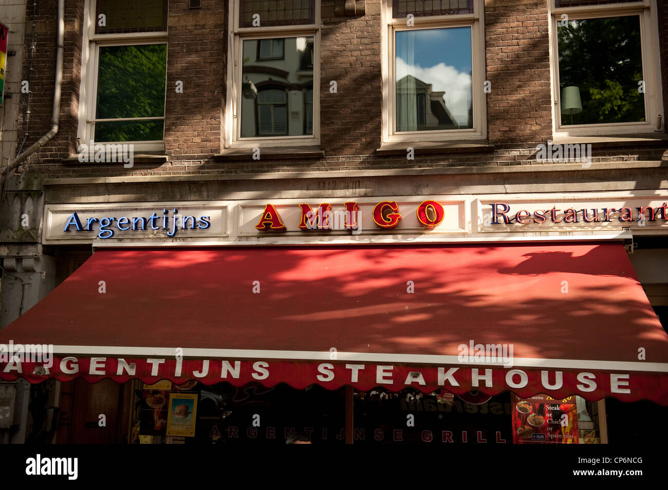Restaurante argentino Amigo de Amsterdam Holanda Holanda Europa UE Imagen De Stock