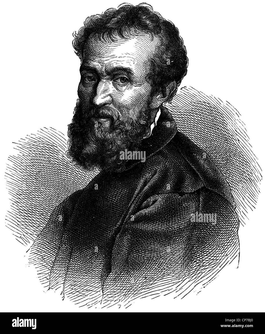 Artista del Renacimiento italiano Michelangelo Imagen De Stock