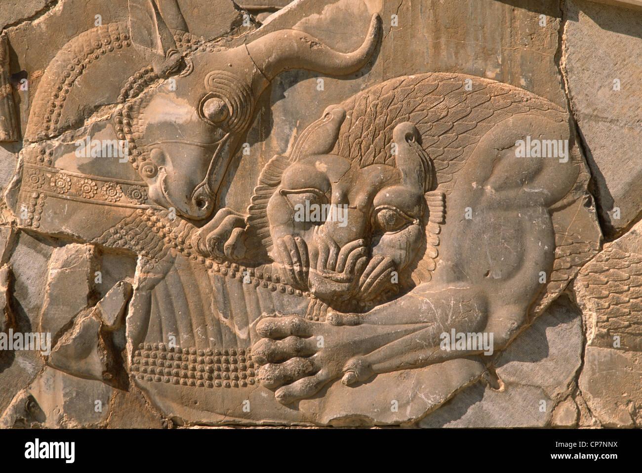 Irán, provincia de Shiraz, Persépolis, Takht-é Jamshid, Foto de stock