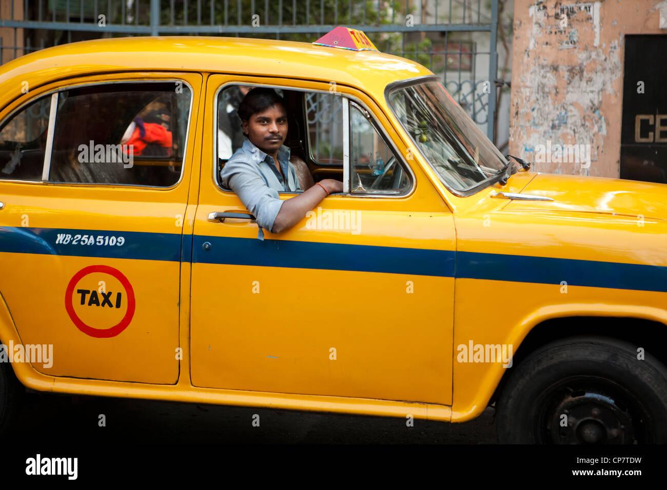 Taxi Driver en Kolkata (Calcuta), India Imagen De Stock