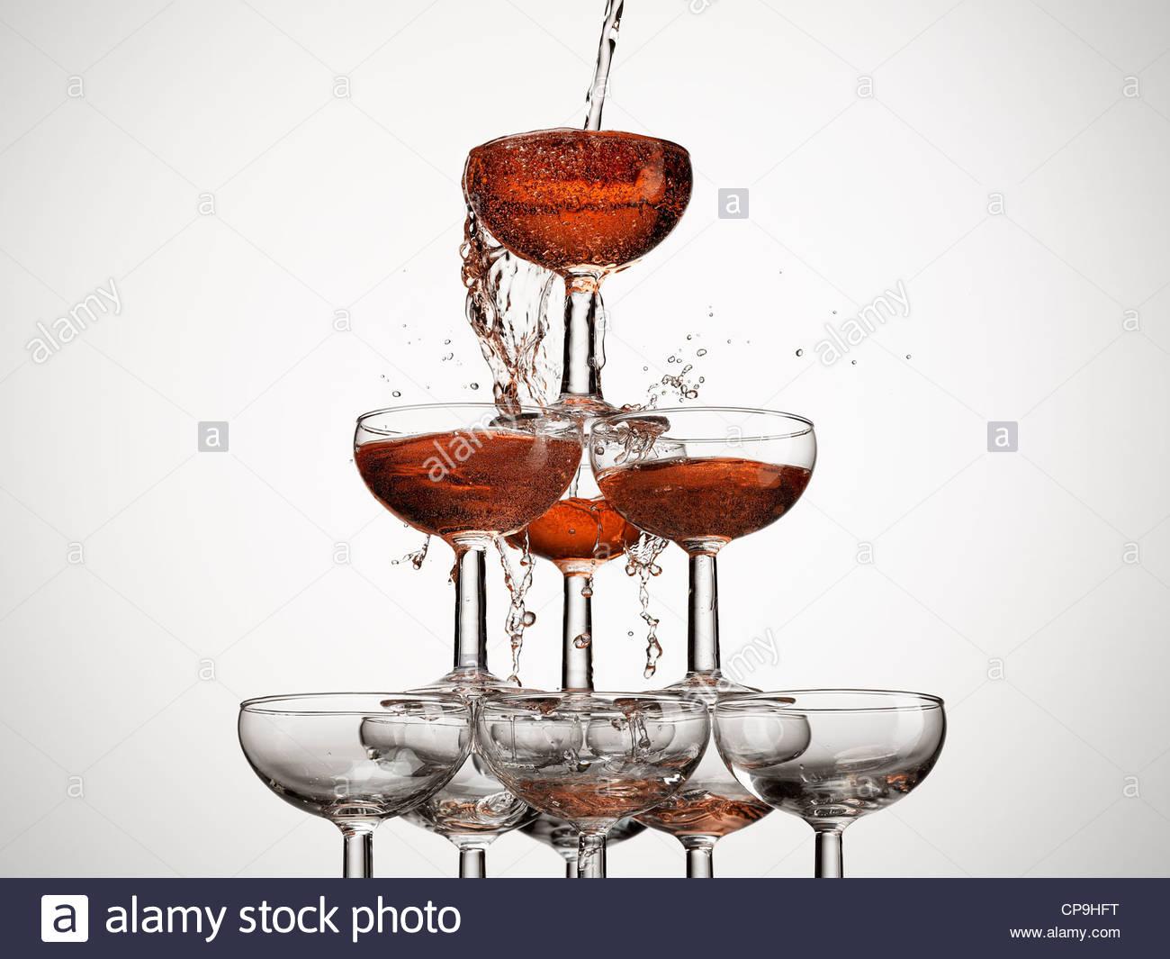Abundancia,previsión,aspiración,inicios,burbuja,fiesta,vaso de champán,color image,concepto,exceso,llenado,comida Imagen De Stock