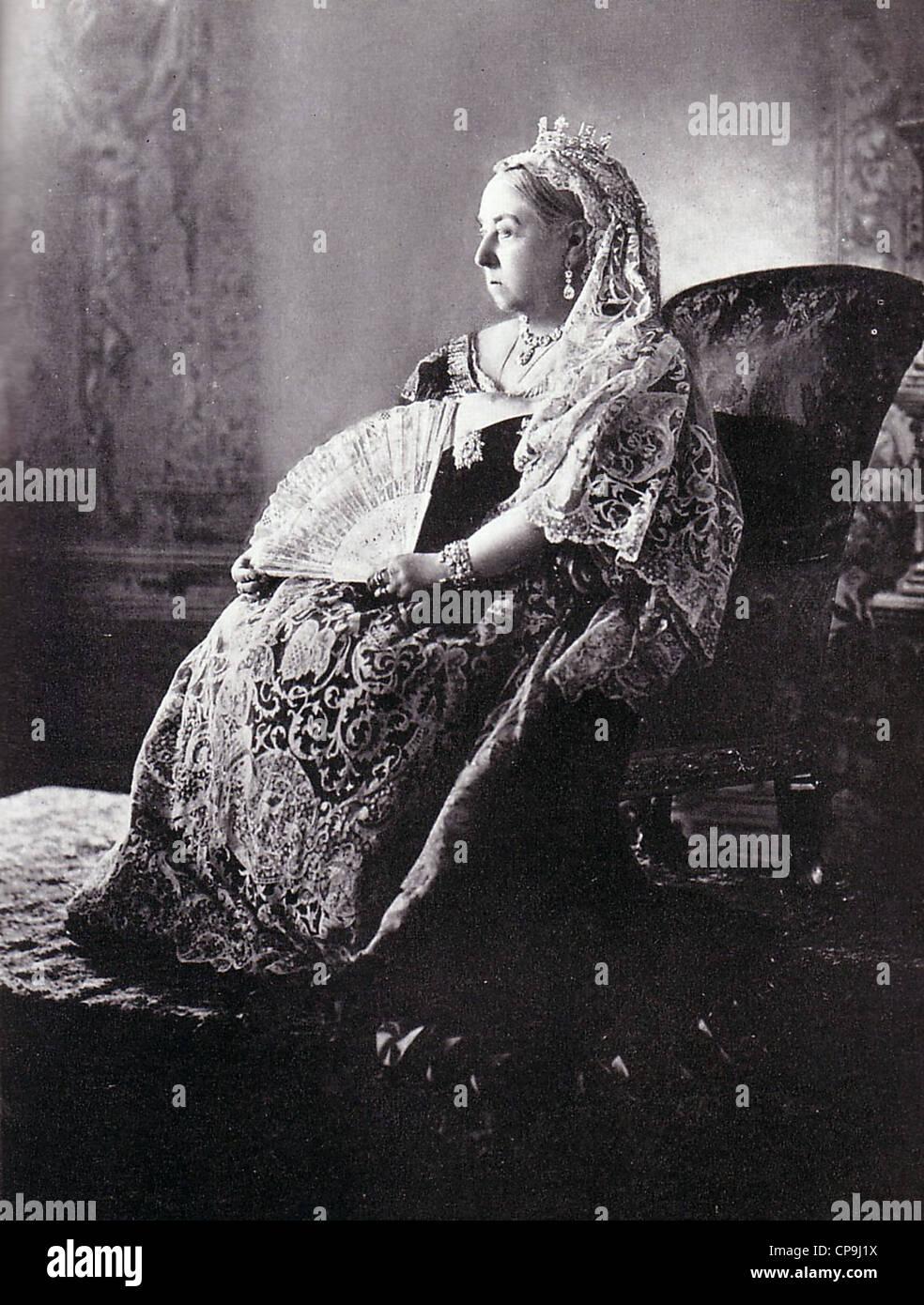 La reina Victoria durante su jubileo de diamante Imagen De Stock