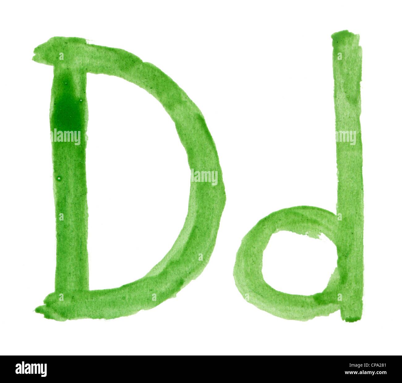 Alfabeto acuarelas Imagen De Stock