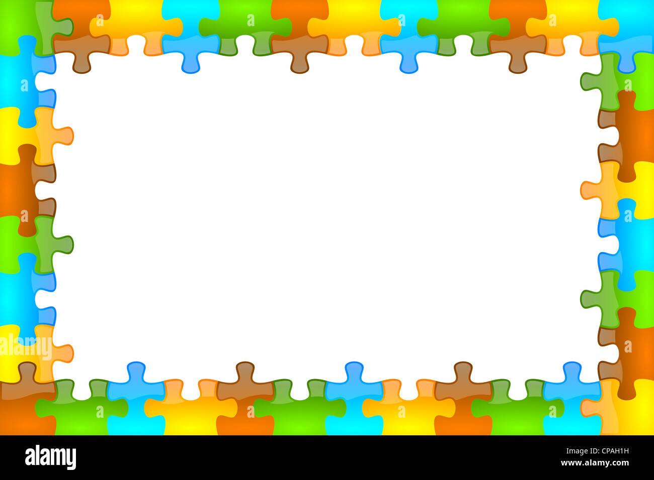 Color, satinado, brillante y jazzy puzzle bastidor 12 x 8 Foto ...