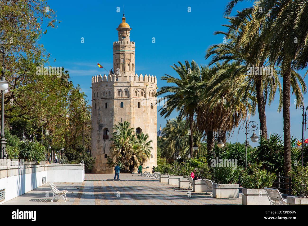 Europa, España, Andalucía, Sevilla, Torre del Oro Imagen De Stock