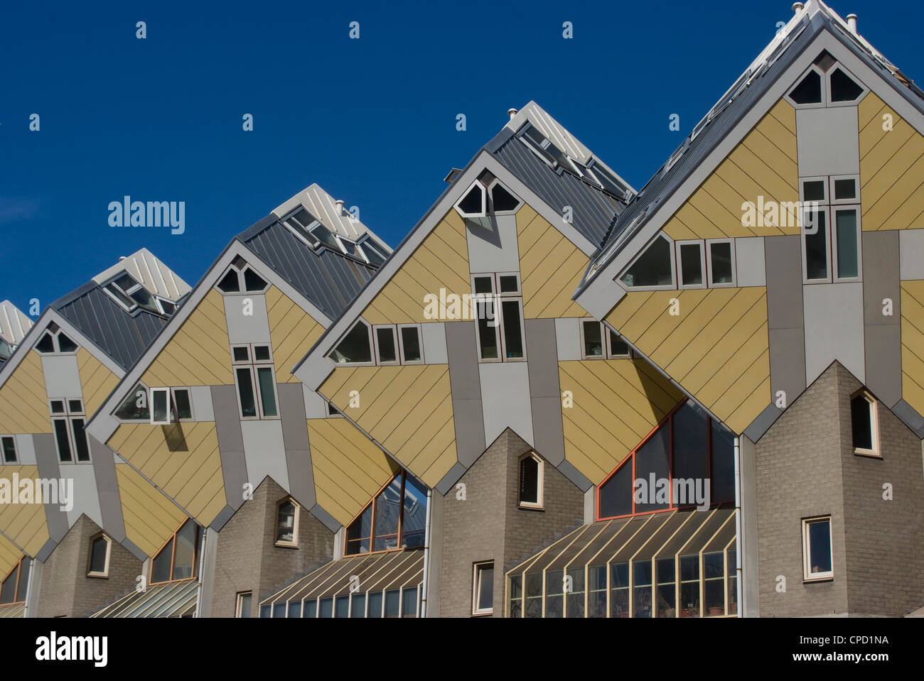 Casa Cúbicas (Kubuswoningen), diseñado por Piet Blom, Rotterdam, Países Bajos, Europa Imagen De Stock