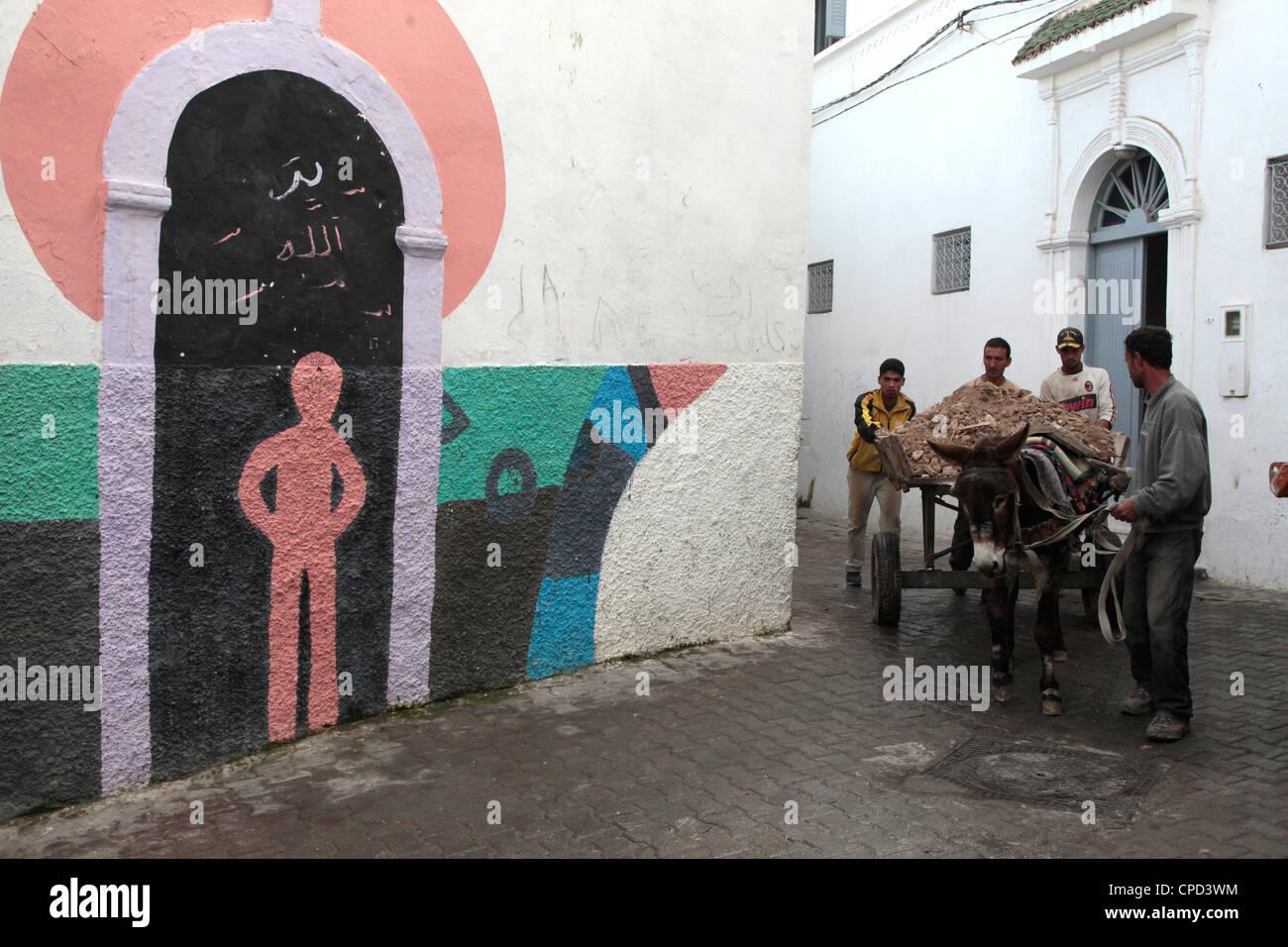 La vida cotidiana en Azemmour, Marruecos, Norte de África, África Foto de stock