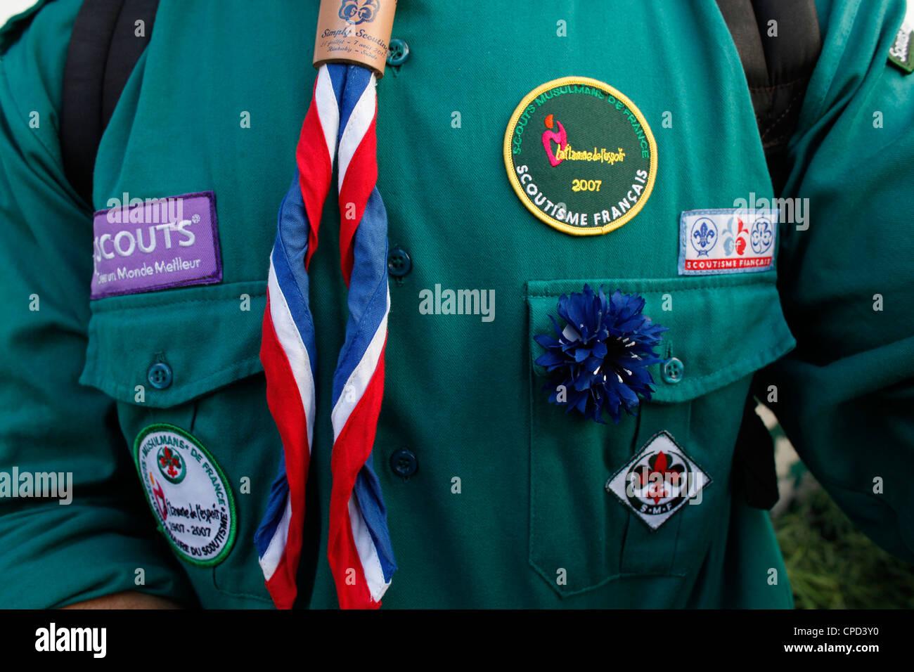 Scout musulmana francesa, París, Francia, Europa Imagen De Stock