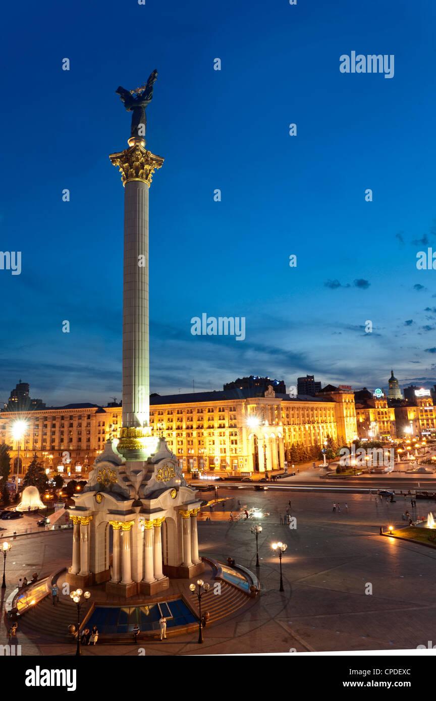 La Plaza de la independencia, Maidan, Kiev, Ucrania, Europa Imagen De Stock