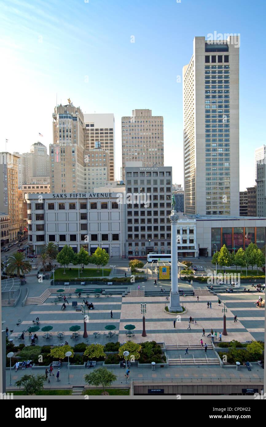 Union Square, en el centro de la ciudad, San Francisco, California, Estados Unidos de América, América del Norte Foto de stock