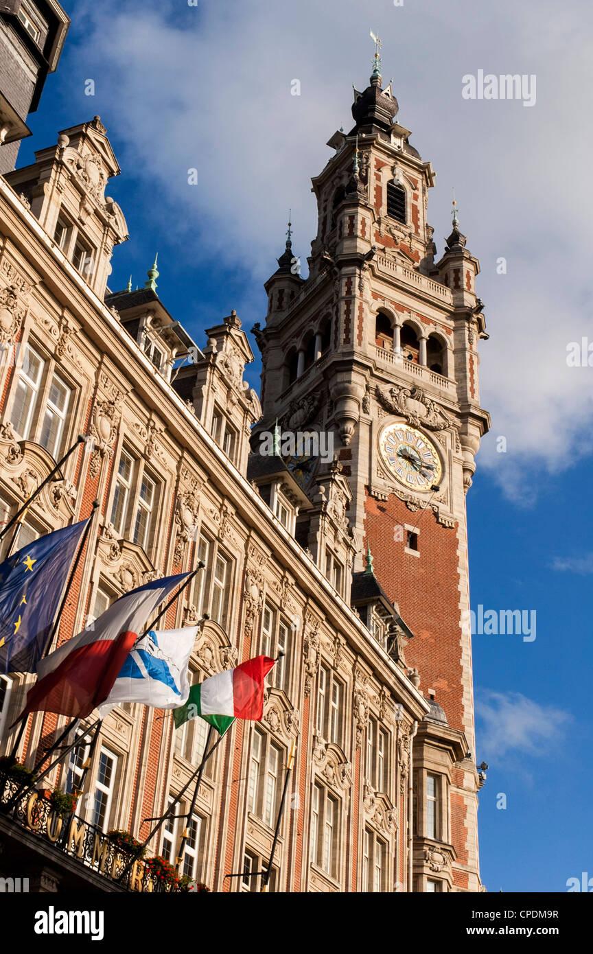 El edificio de la Cámara de Comercio, Lille, Francia Imagen De Stock
