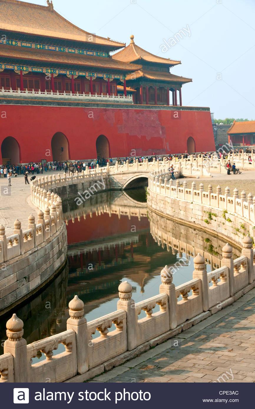 Río de Oro, la Ciudad Prohibida, Pekin, China, Asia Imagen De Stock