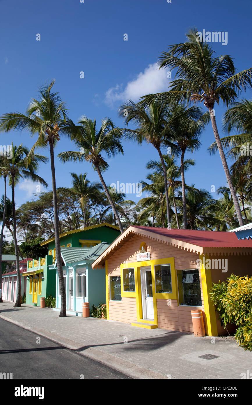 Calle Riu Caribe, Playa Bávaro, Punta Cana, República Dominicana, Antillas, Caribe, América Central Imagen De Stock