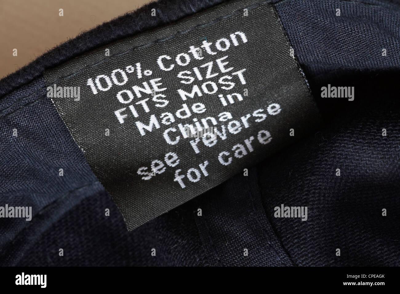 100% algodón Talla única fabricadas en China Vea el reverso de la etiqueta  de cuidados c18a21352ce