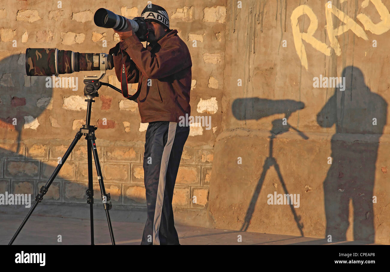 Wildlife Photographer profesional Imagen De Stock