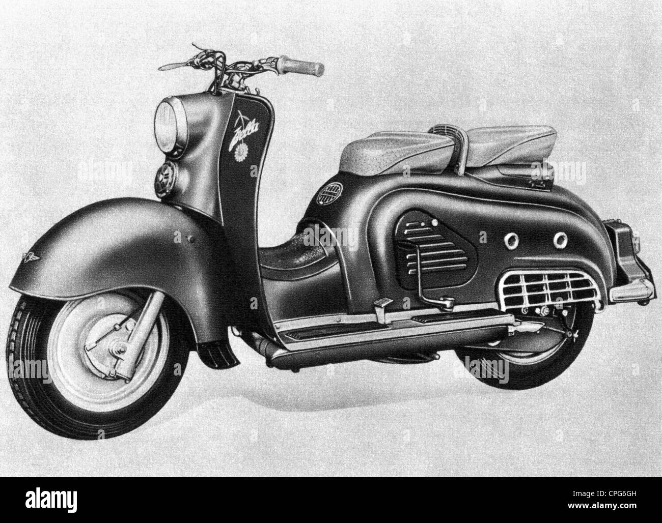 Transporte / Transporte, motocicleta, Bella Zuendapp motor scooter 1954, Additional-Rights-Clearences-NA Imagen De Stock