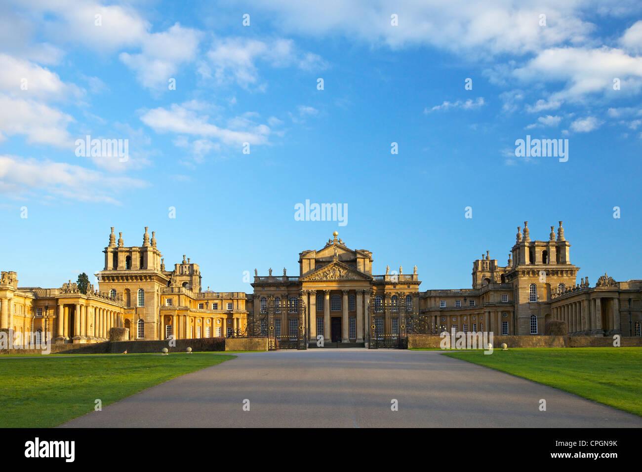 El Palacio de Blenheim, Woodstock, Oxfordshire, Inglaterra, UK, Reino Unido, Islas Británicas, GB, Gran Bretaña, Imagen De Stock