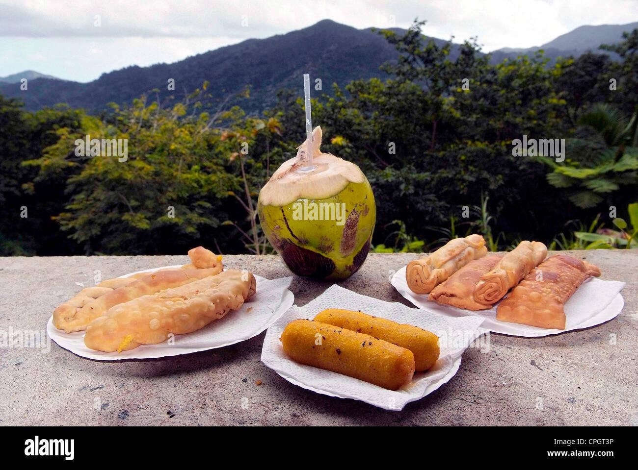 PUERTO RICO - comida típica isla Foto de stock