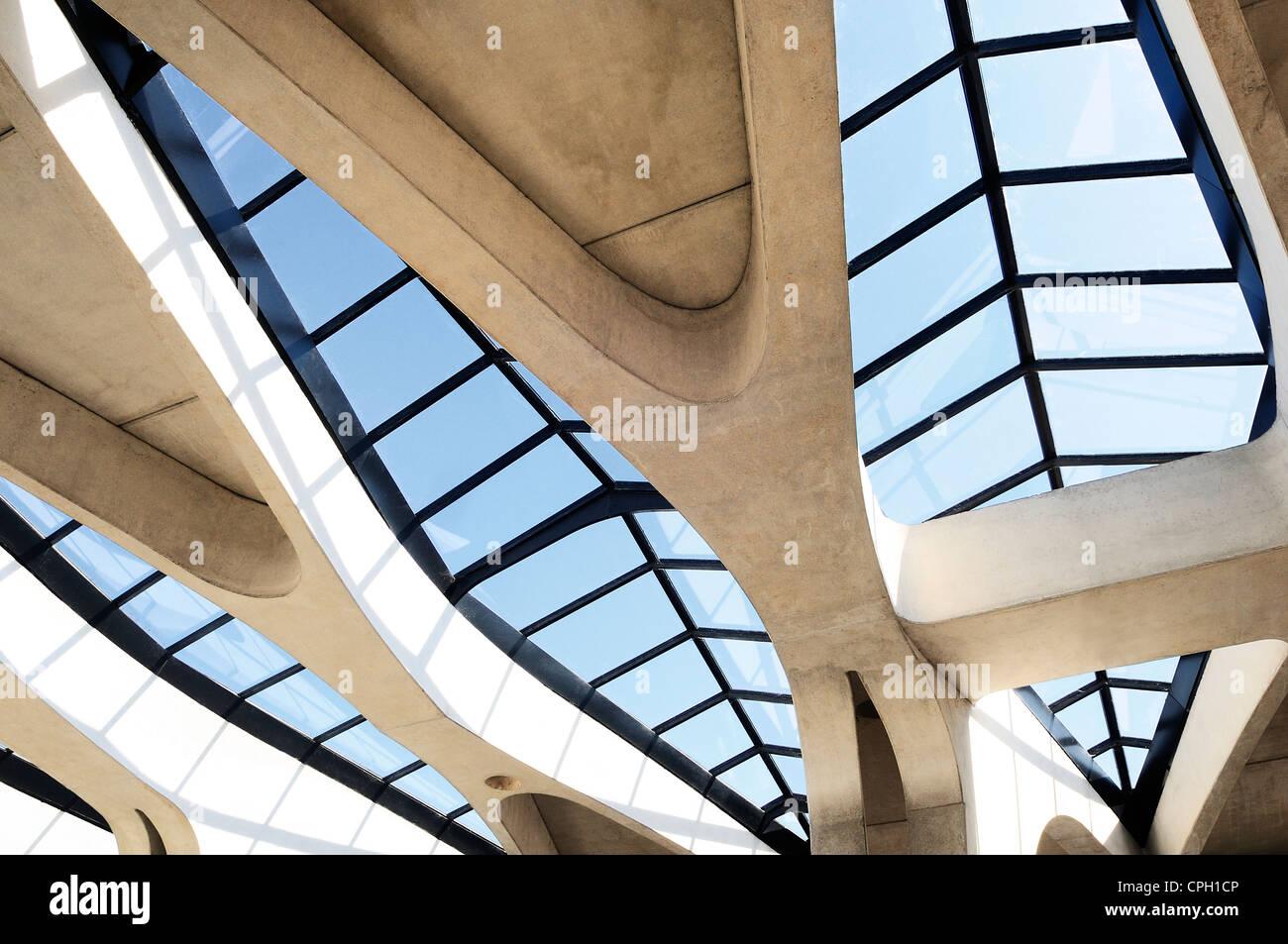 Techo, detalles de arquitectura contemporánea Foto de stock