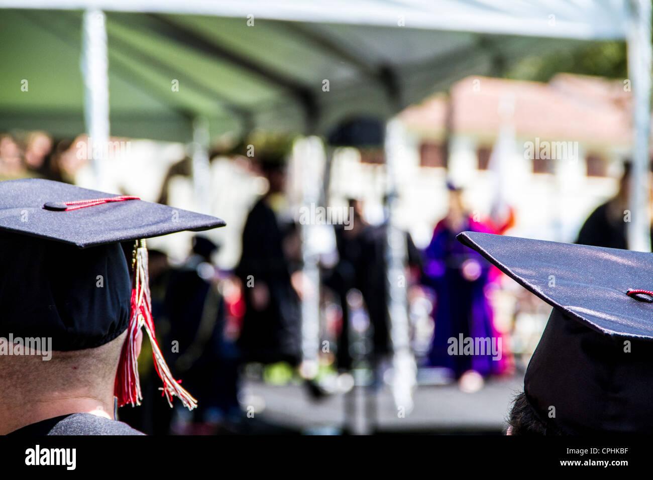 Las ceremonias de graduación en la Universidad Estatal de California en islas del Canal en Oxnard California Imagen De Stock