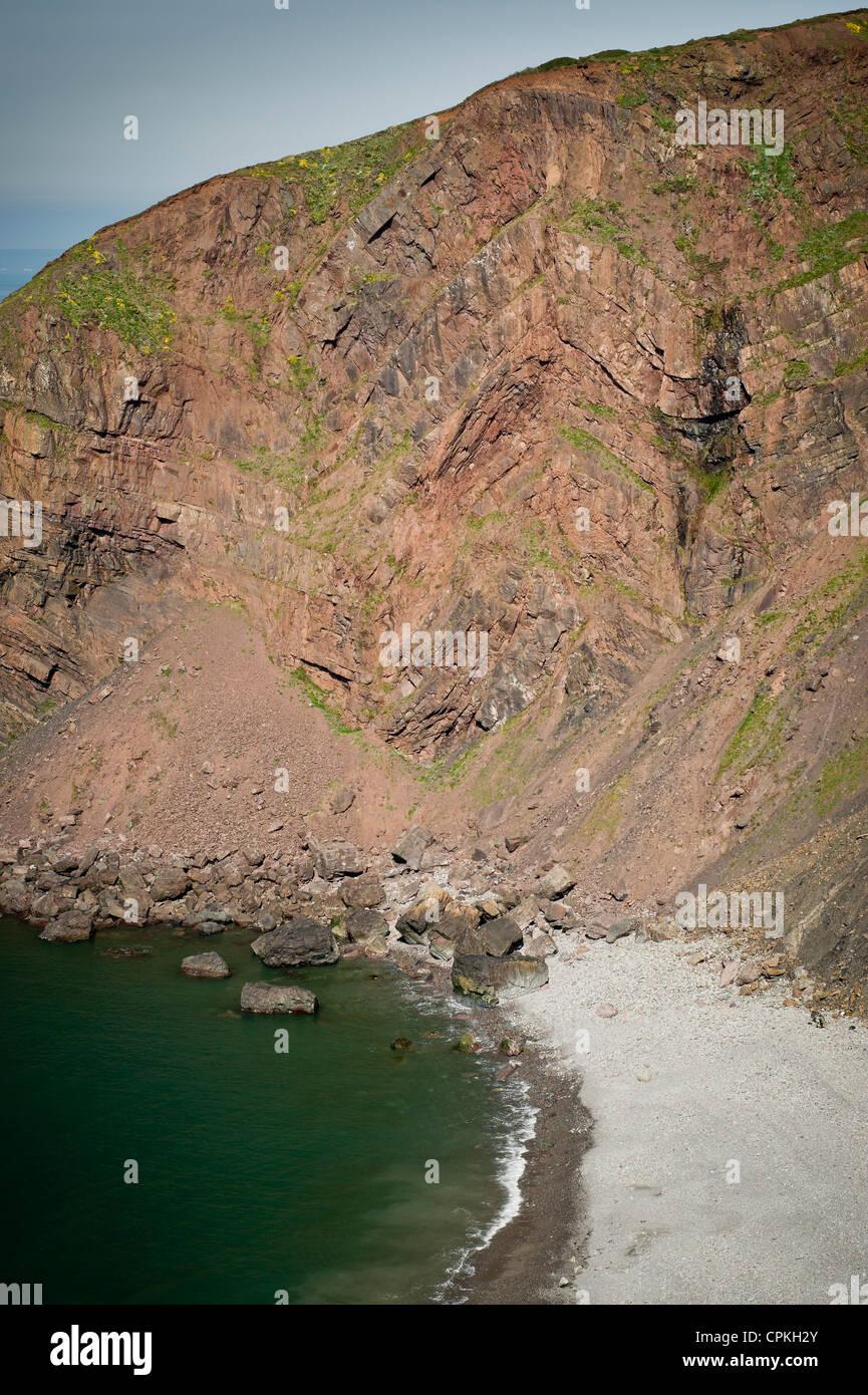Cebada bahía cerca de Hartland Point, Devon, Reino Unido Imagen De Stock