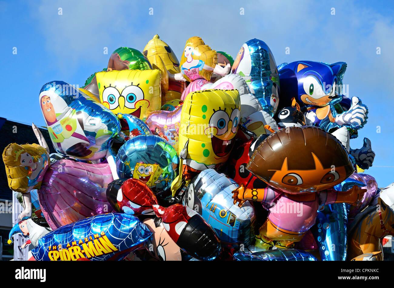 Globos de helio Chrildrens Imagen De Stock
