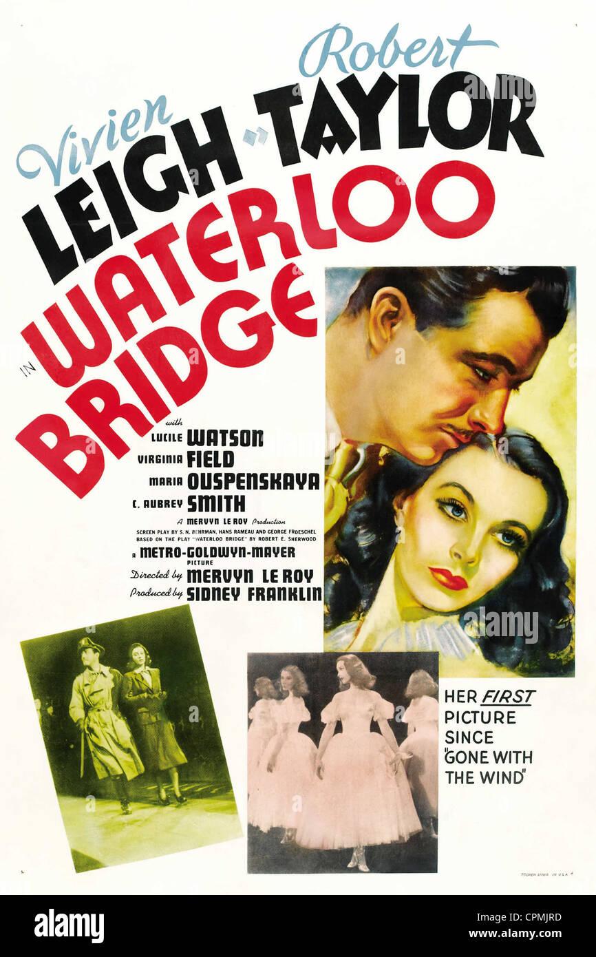 El puente de Waterloo Imagen De Stock