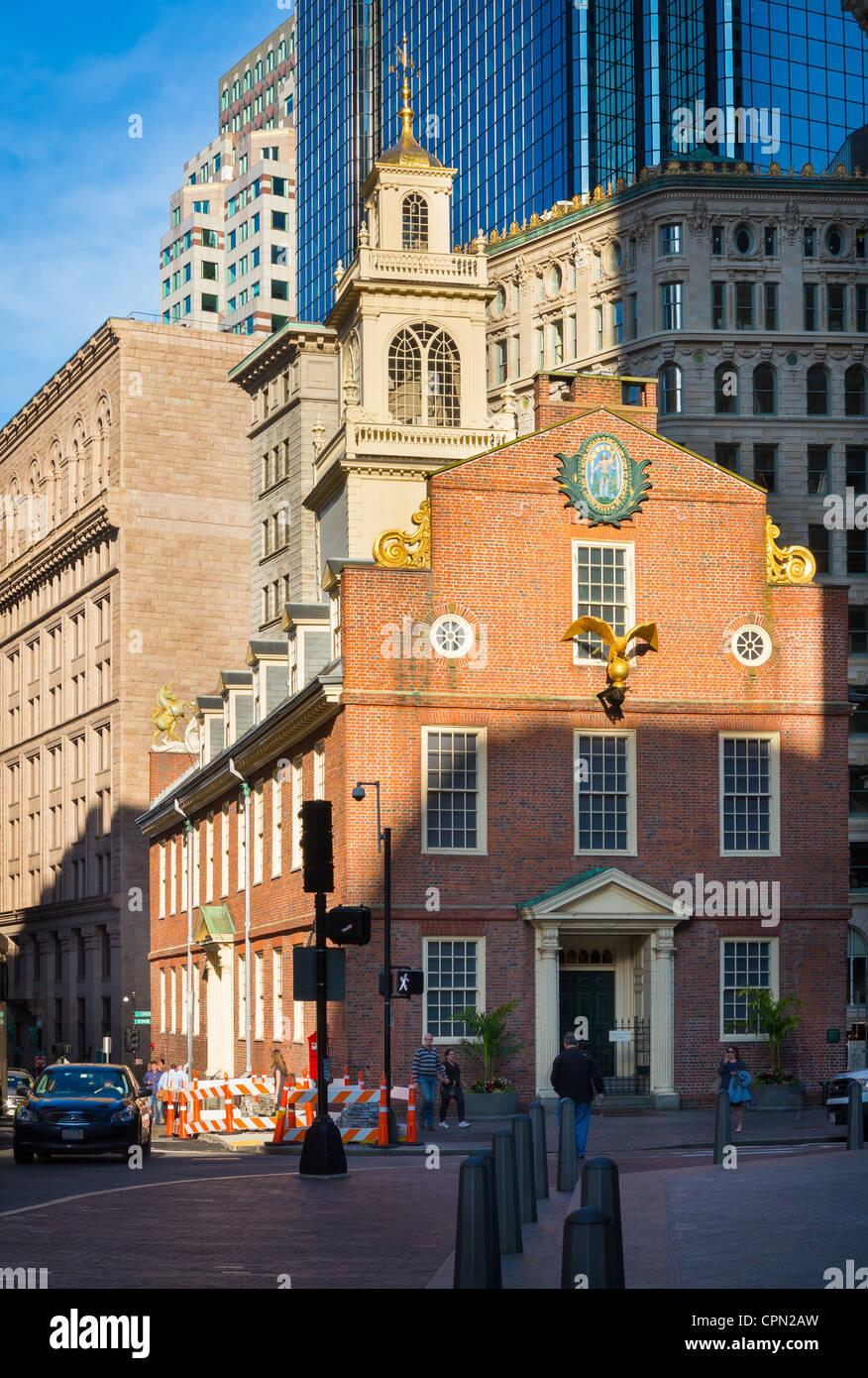 El Old State House es un edificio histórico del gobierno en Boston, Massachusetts Imagen De Stock