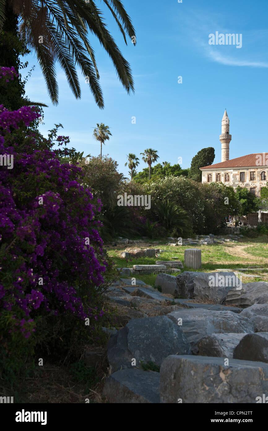 Europa Grecia, Dodecaneso, Kos, el sitio arqueológico de la Harbour Trimestre Foto de stock