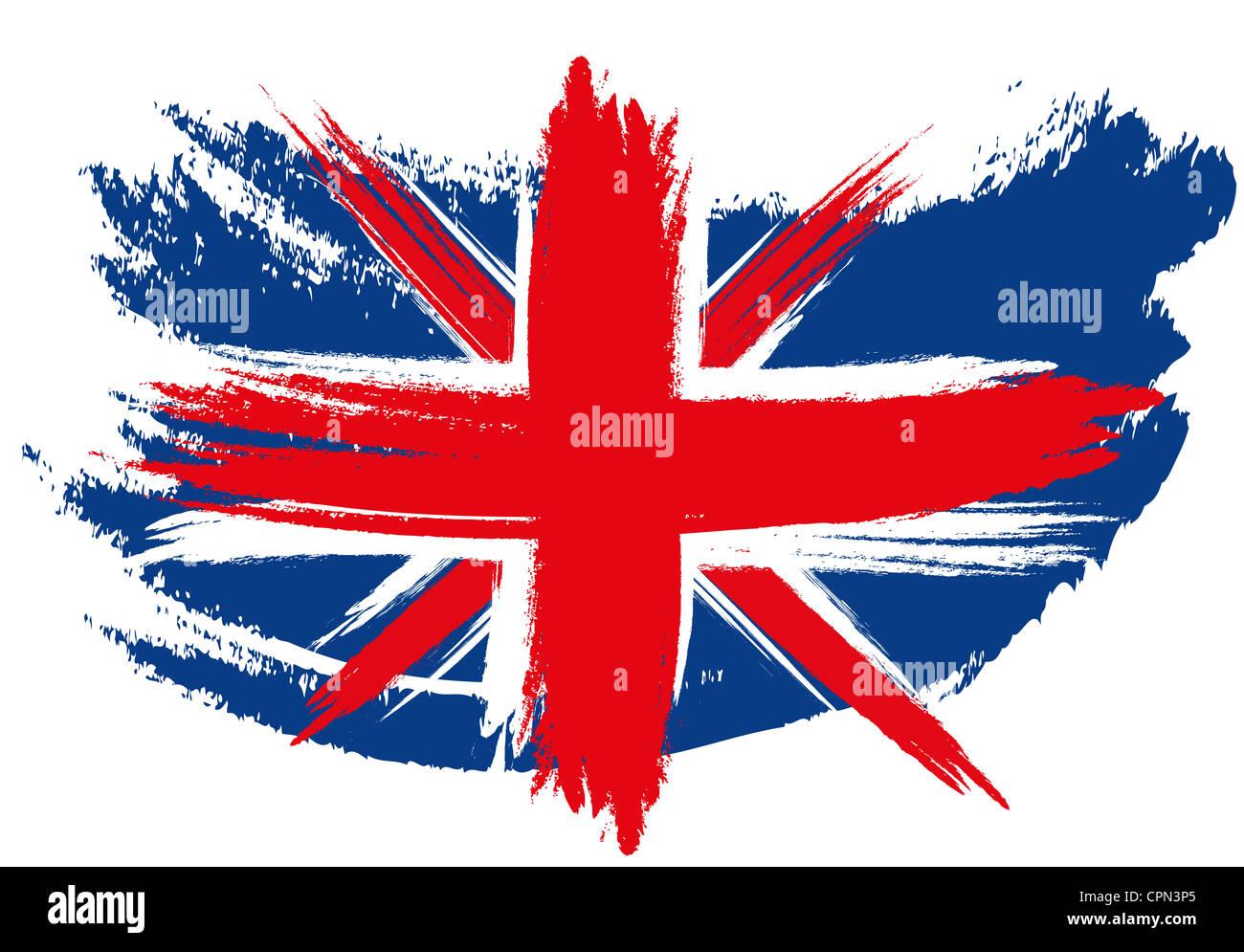 Reino Unido Gb Gran Bretaña Bandera Union Jack Dibujópintado