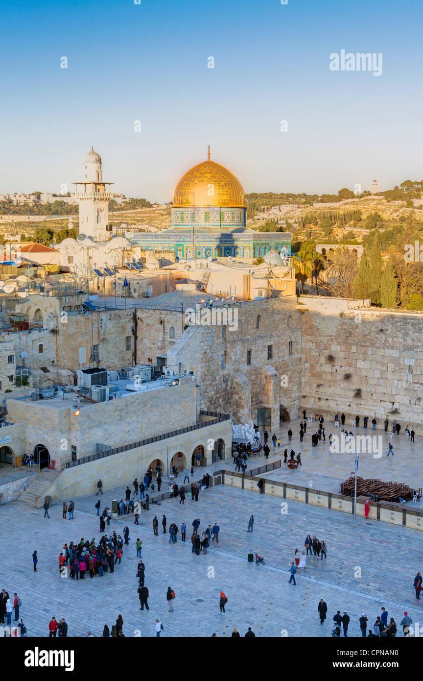 Oriente Medio, Israel, Jerusalén, la Ciudad Vieja, el barrio judío de la Plaza del Muro Occidental Imagen De Stock