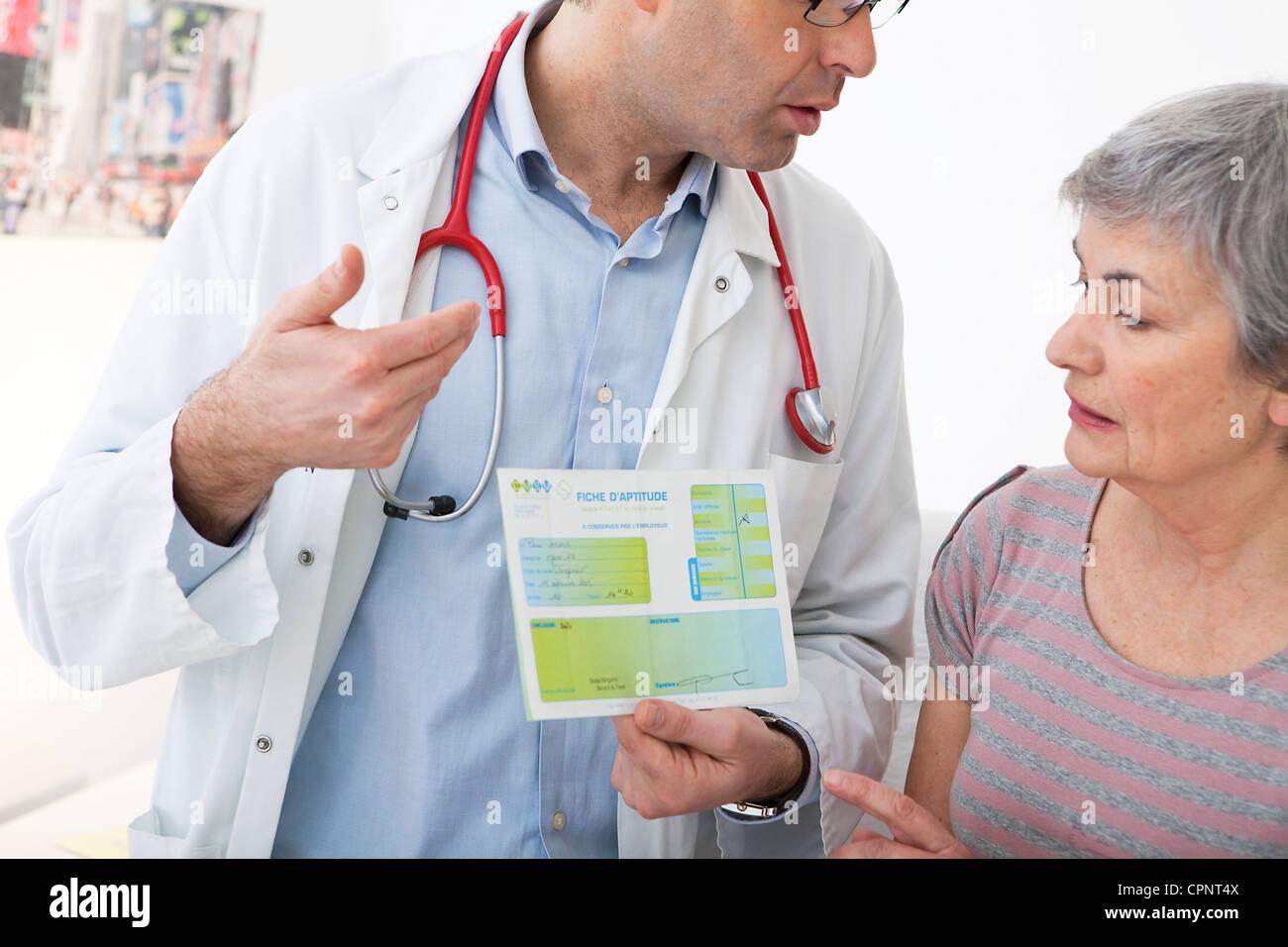 Medicina ocupacional Imagen De Stock