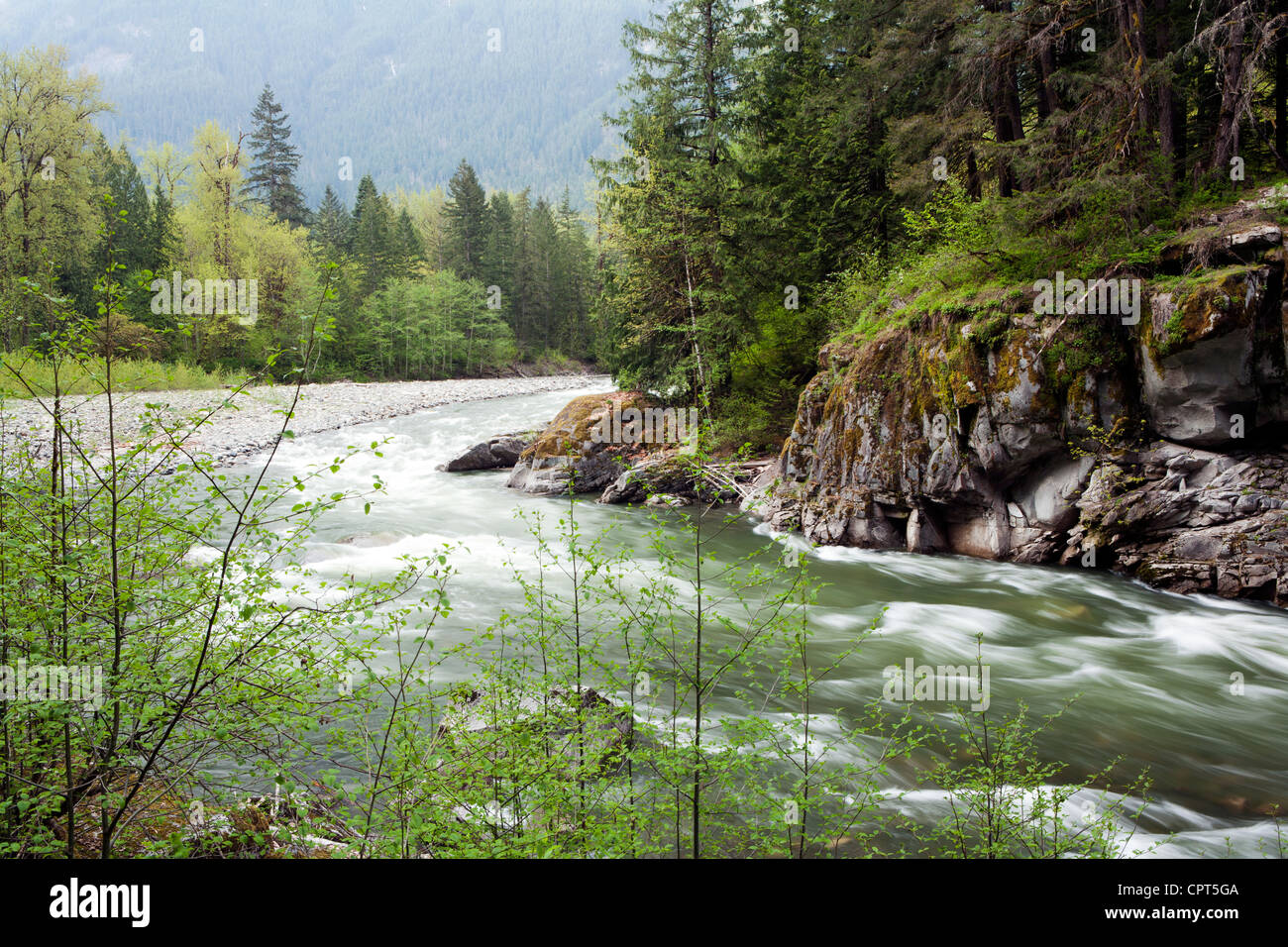 Coquihalla río cerca de Othello túneles - Coquihalla Canyon Parque Provincial - esperanza, British Columbia, Canadá Foto de stock