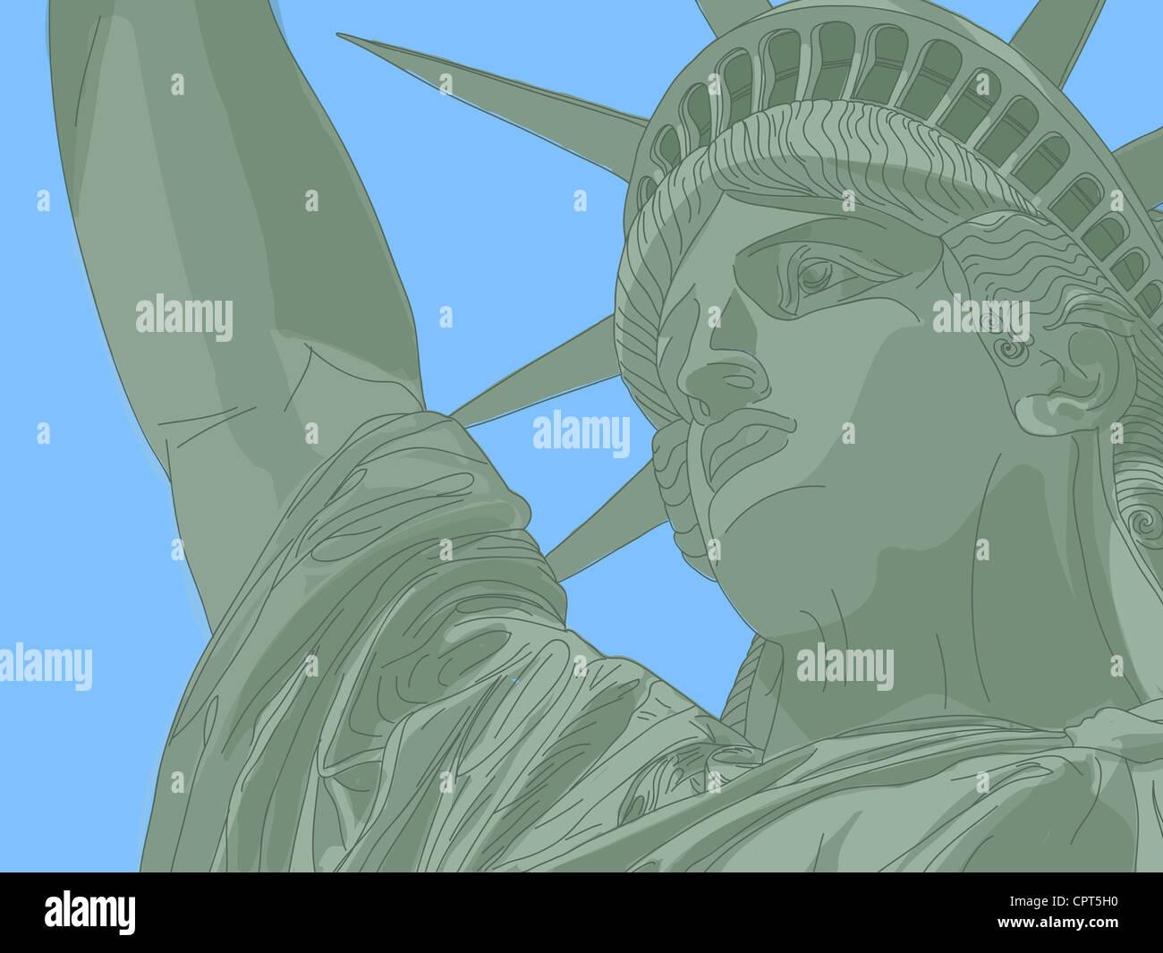 La estatua de la libertad Foto de stock