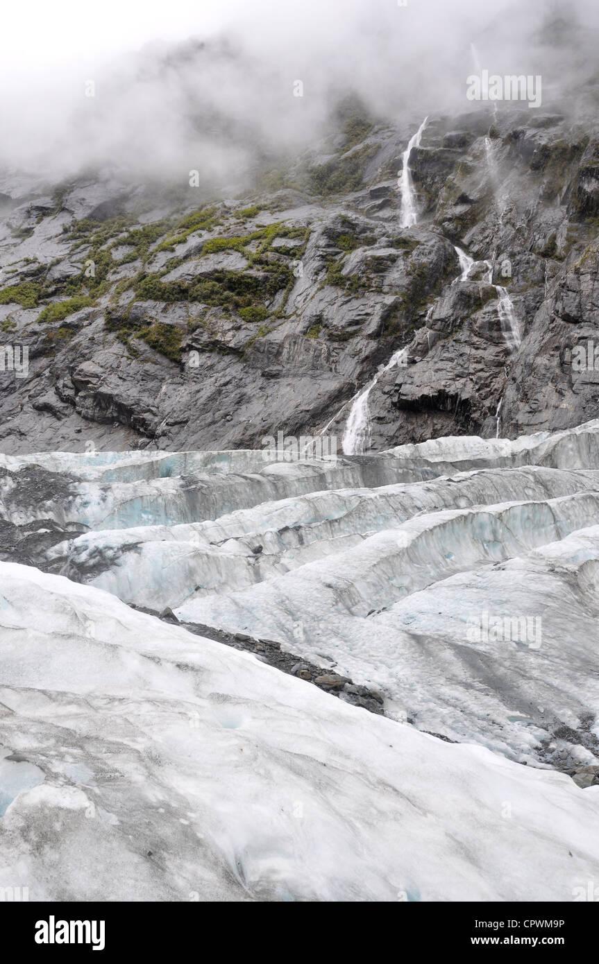 Glaciar Franz Josef Costa Oeste, Isla del Sur, Nueva Zelanda Foto de stock