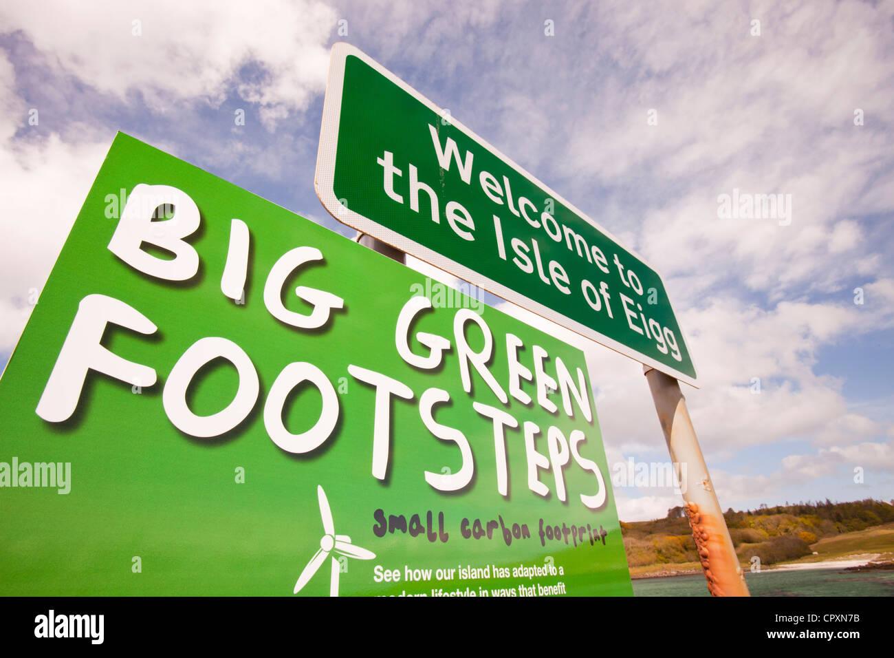 La Isla de Eigg que es un 98% de energía renovable. Imagen De Stock