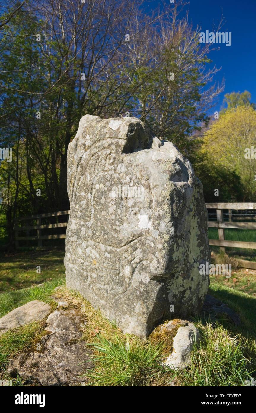 La Piedra del Águila, Strathpeffer, Ross-shire, Escocia. Foto de stock