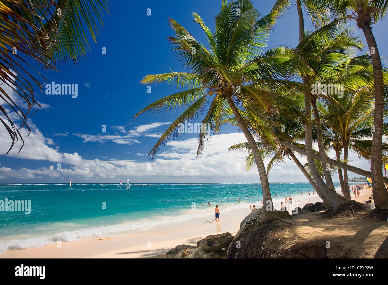República Dominicana, provincia de La Altagracia, Punta Cana, Playa Bavaro Imagen De Stock