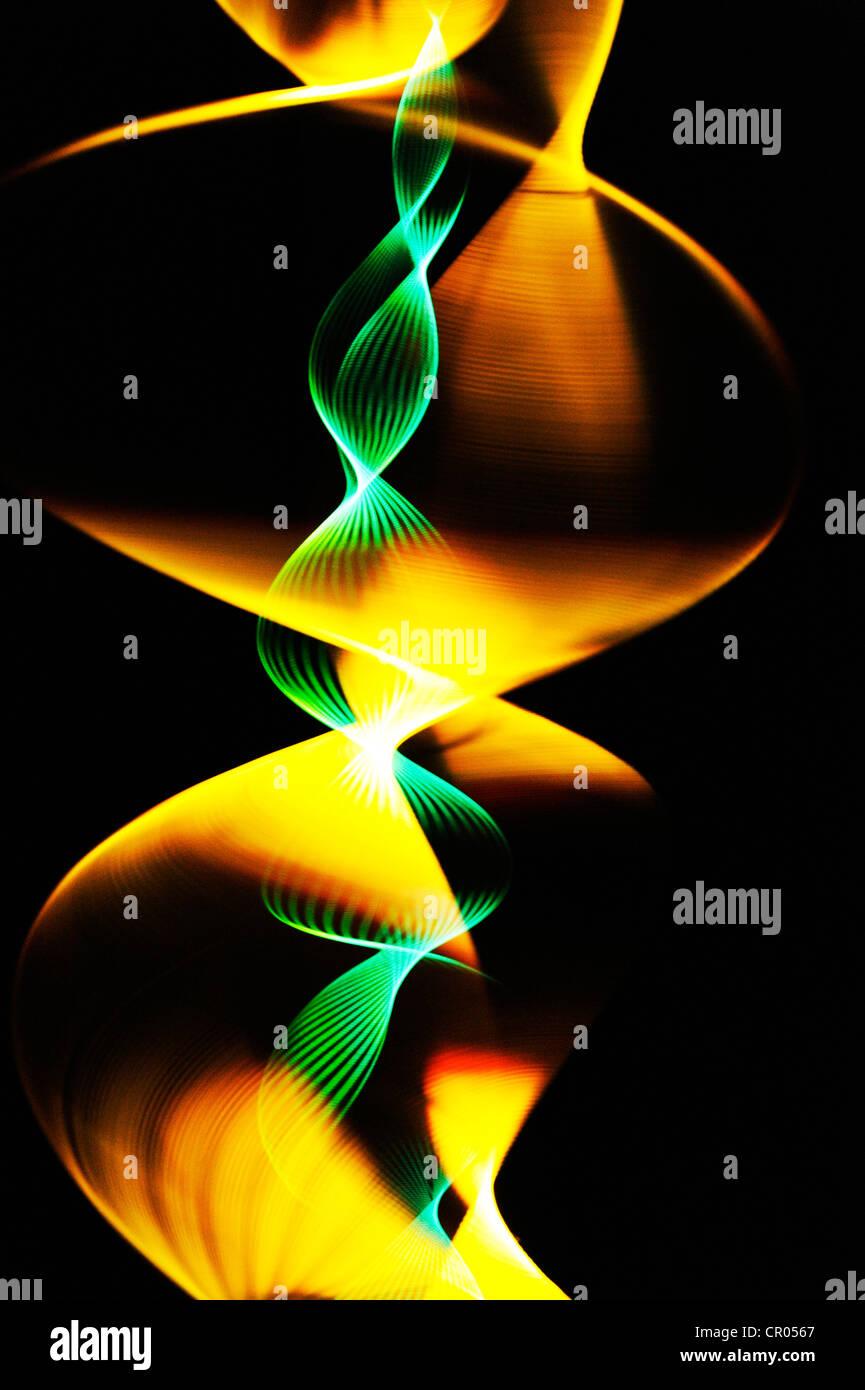 Rosca giratoria iluminado con un flash estroboscópico Foto de stock