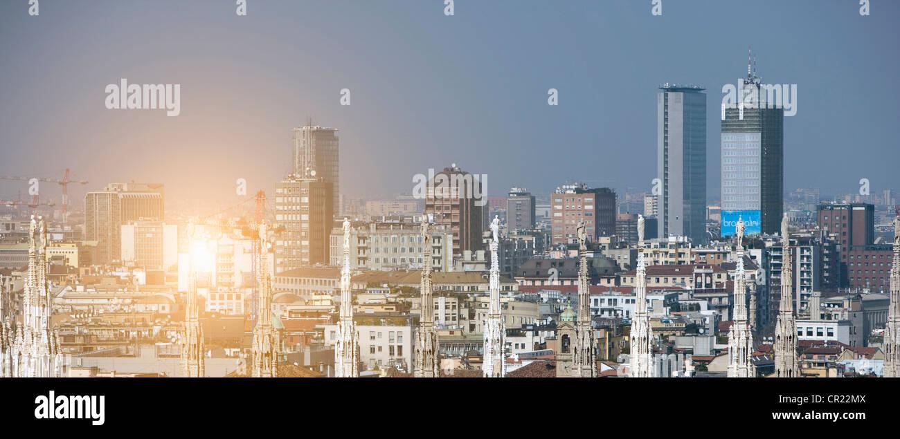 Vista aérea de la ciudad Foto de stock