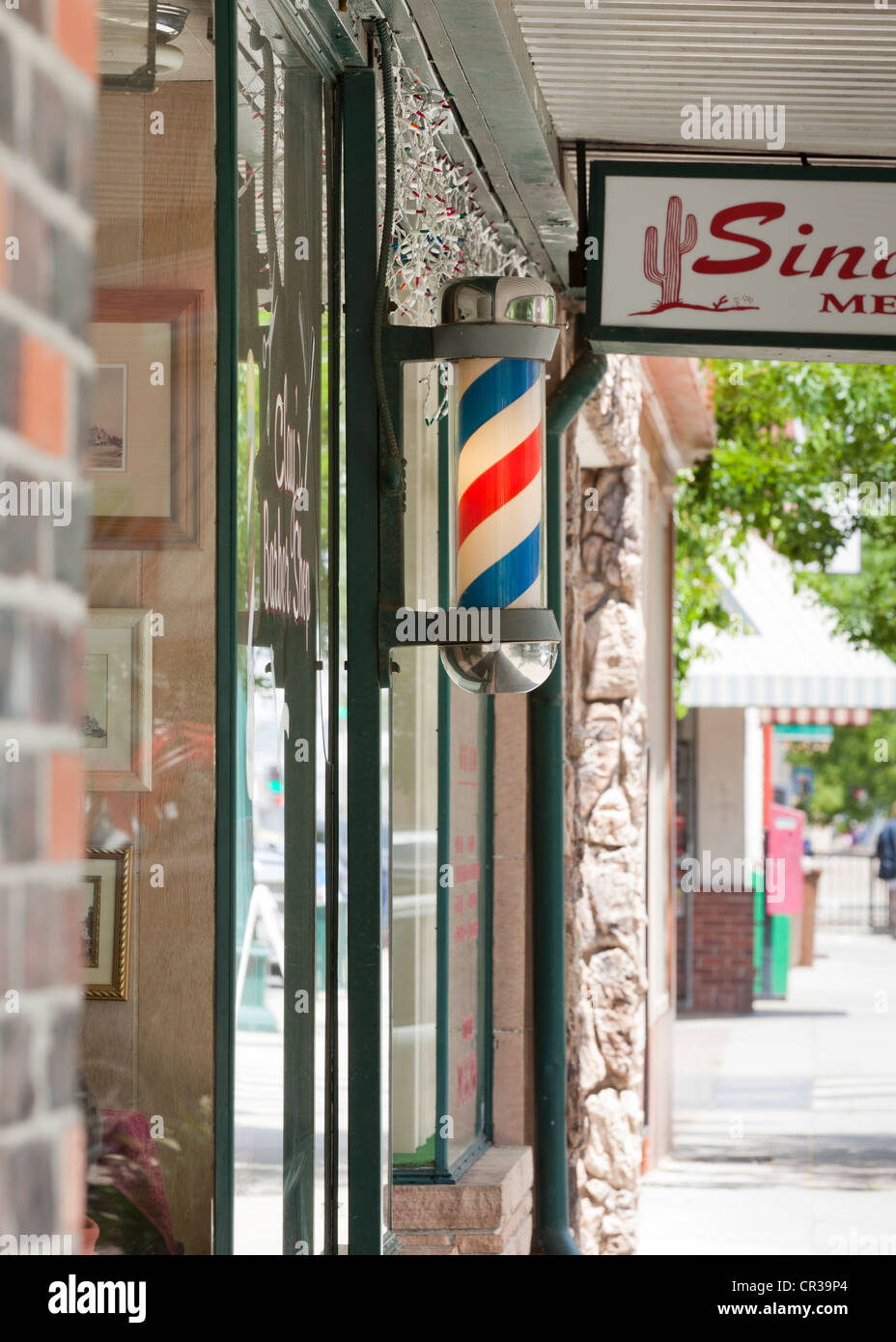 Pole Barber shop Foto de stock