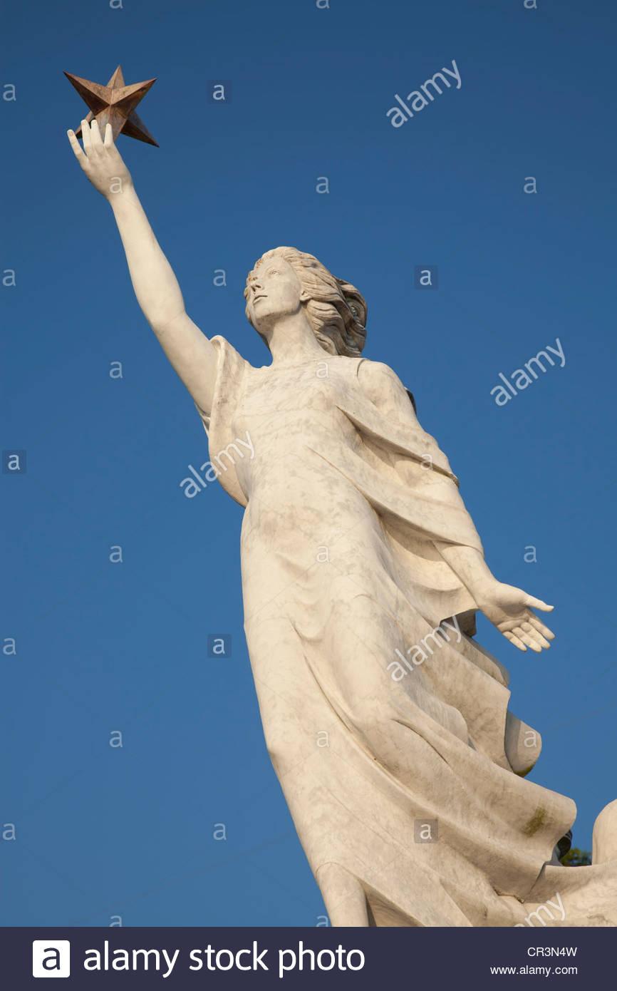 Monumento a los inmigrantes, en Nueva Orleans, Luisiana Foto de stock