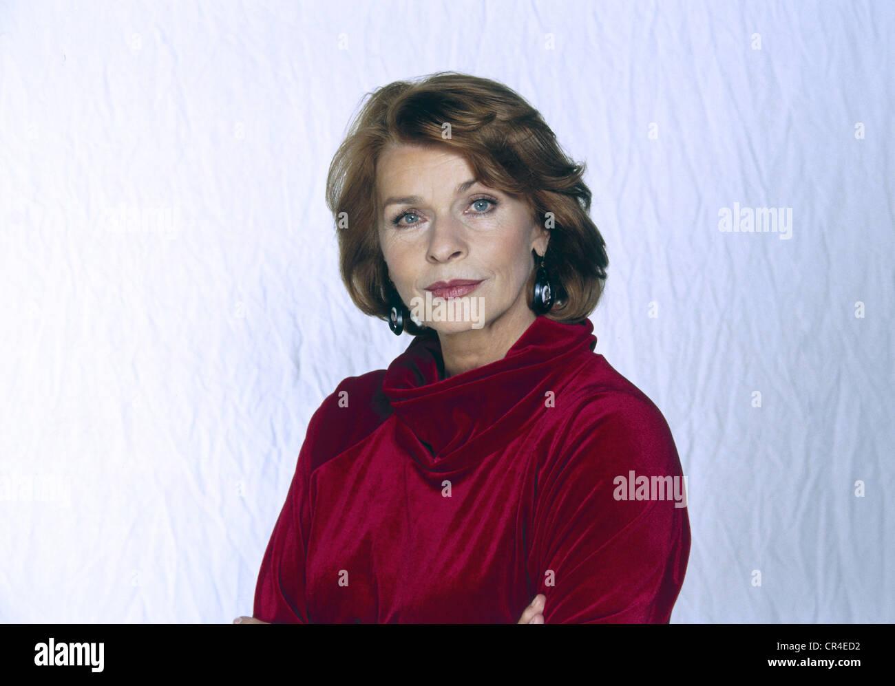Berger, Senta, * 13.5.1941, actriz austriaca, retrato, 1998, Foto de stock