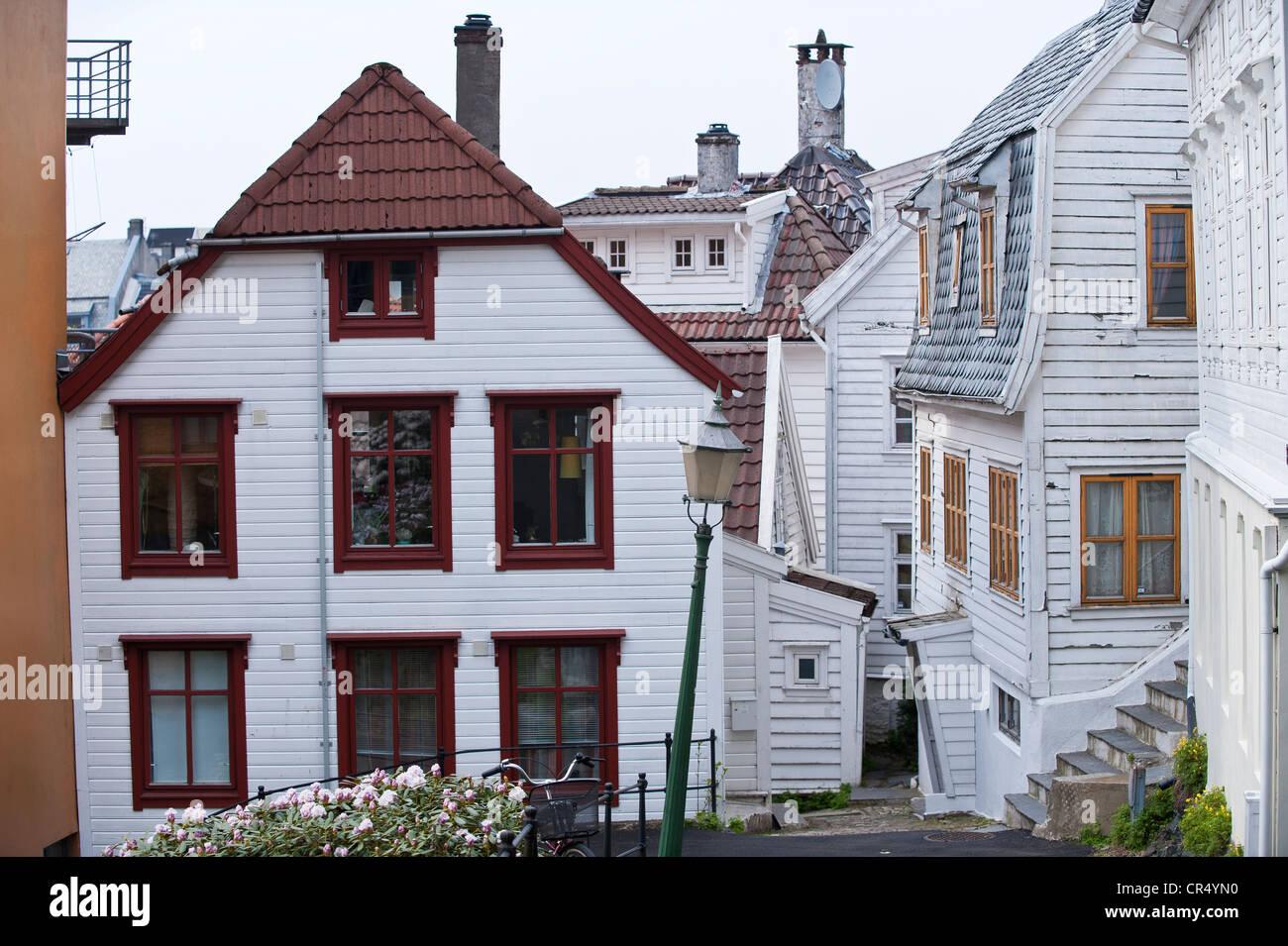 Lille Oevregaten Hordaland, Bergen, Noruega, Escandinavia, Europa del Norte, PublicGround Imagen De Stock