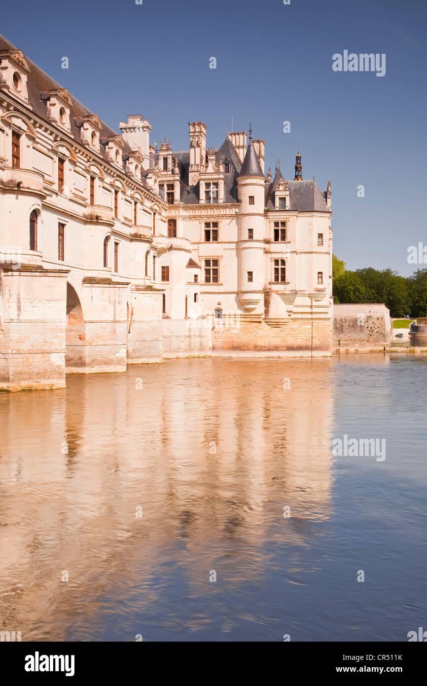 El Château de Chenonceau en el valle del Loira de Francia. Imagen De Stock