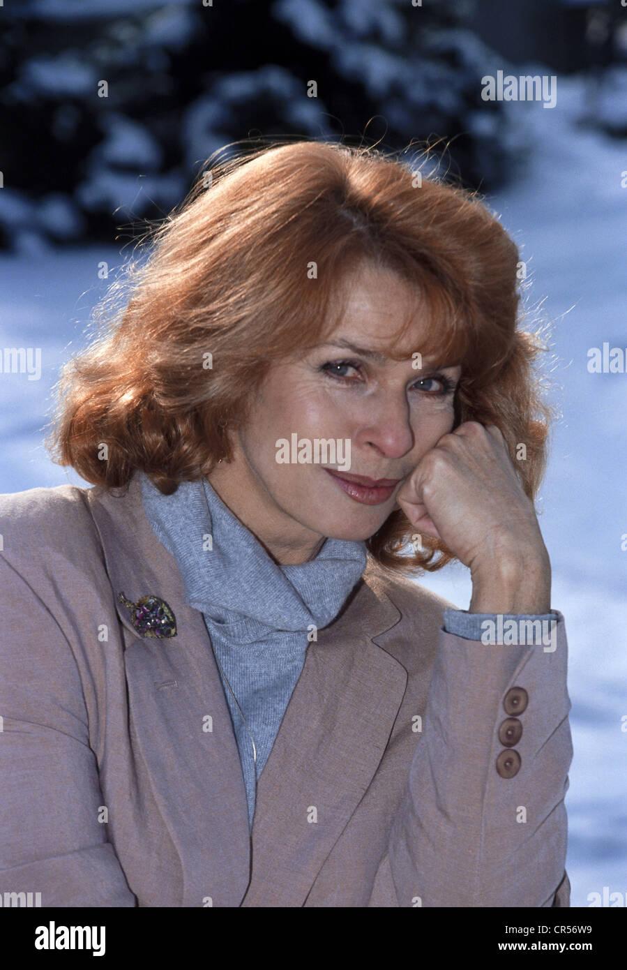 Berger, Senta, * 13.5.1941, actriz austriaca, retrato, 1992, Foto de stock