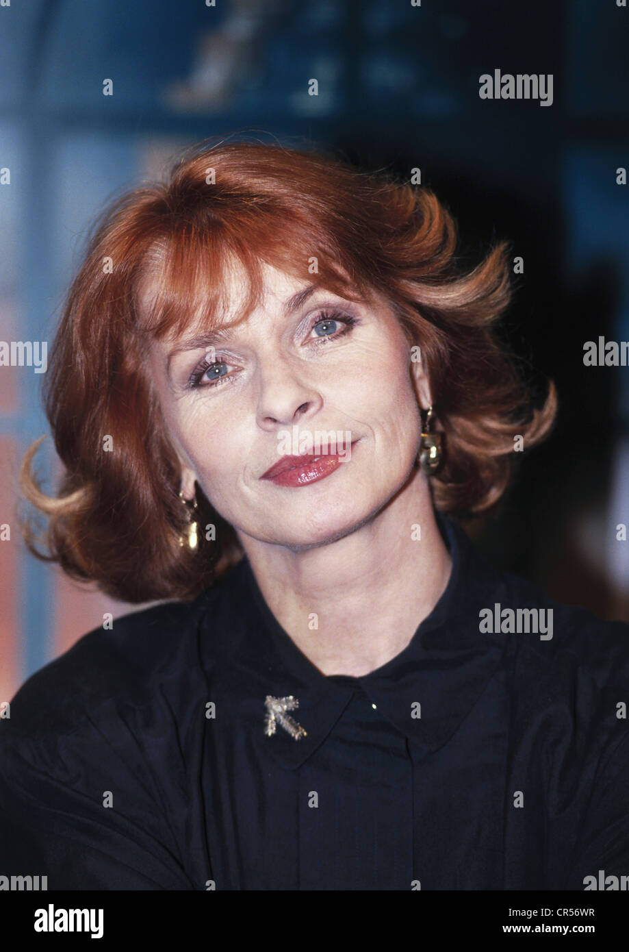 Berger, Senta, * 13.5.1941, actriz austriaca, retrato, 1992, , Foto de stock