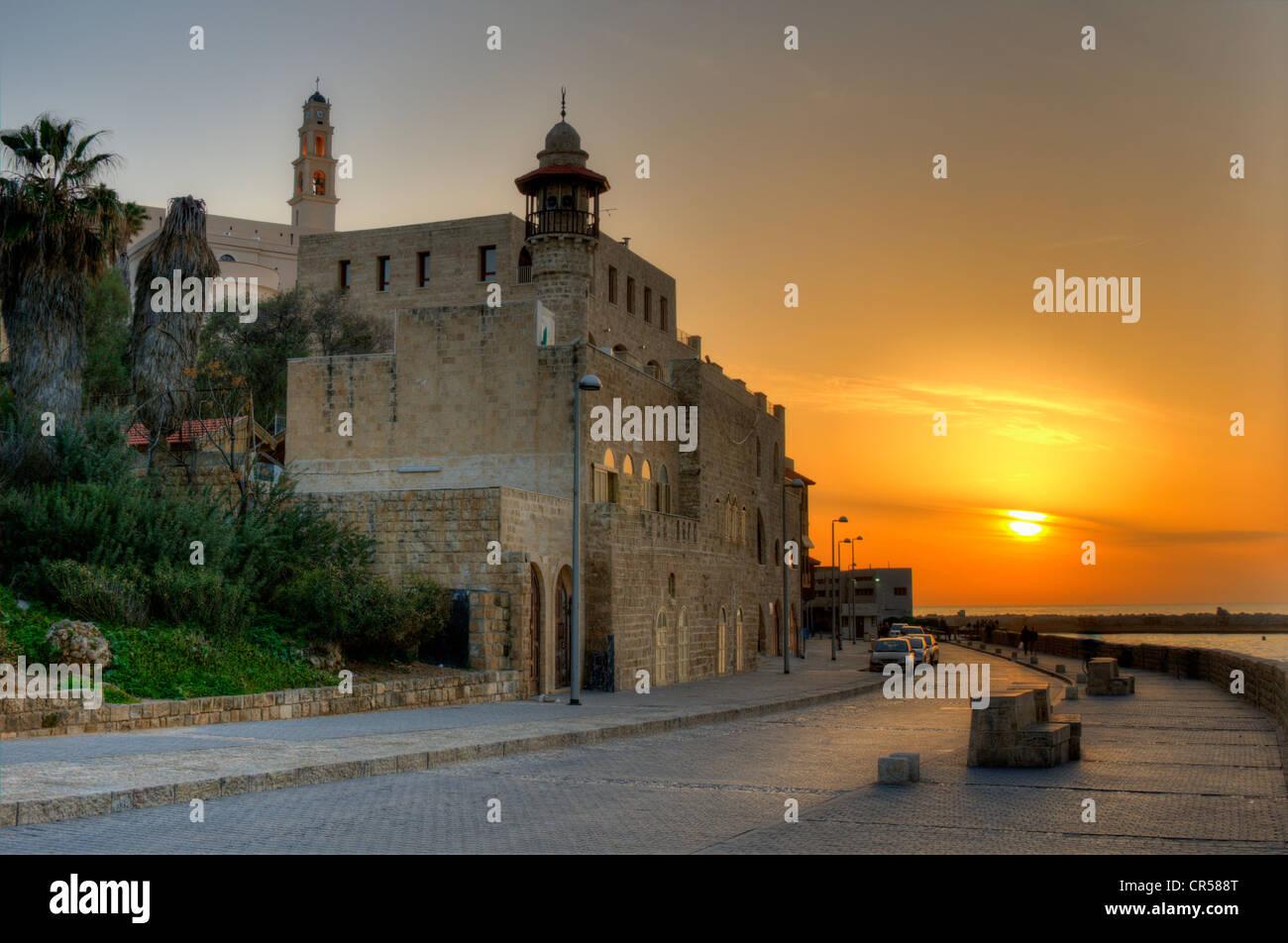 Ciudad amurallada vieja de Jaffa, en Tel Aviv, Israel Imagen De Stock